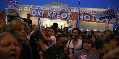 Place Syntagma, Athènes, 3 juillet 2015
