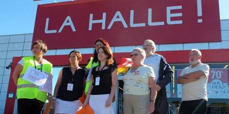 Les salarié·e·s du groupe La Halle à Bergerac, face à un plan de restructuration à l'échelle nationale (26 juin 2015)