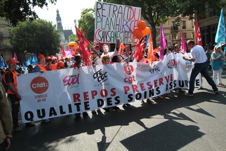 Personnels de l'Assistance publique-Hôpitaux de Paris (AP-HP), juin 2015