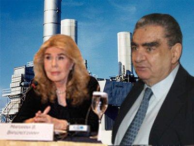Vardis Vardinoyannis et sa femme