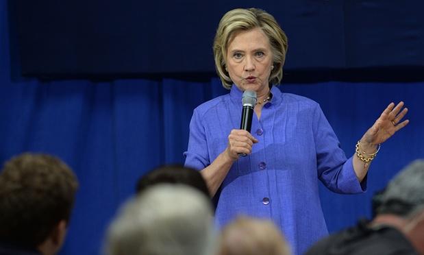 Hillary Clinton parle à Exeter dans le New Hampshire pour les primaires