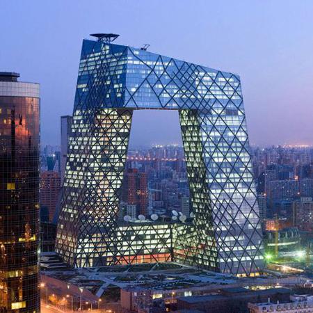 La tour CCTV, de Rem Koolhaas et Ole Scheeren