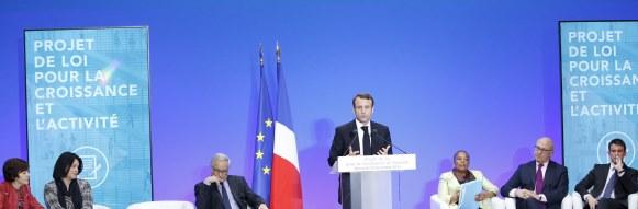 """Conseil des ministres : Presentation du projet de loi pour la croissance et l'activite, dite """"loi Macron"""""""