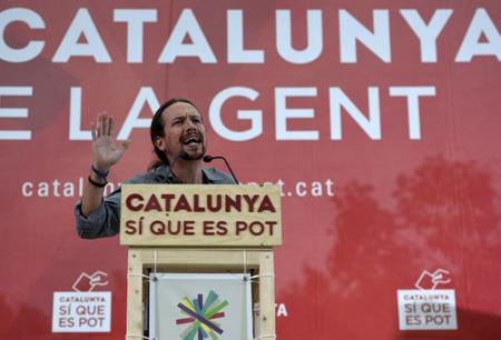 Pablo Iglesias: une difficile présence en Catalogne le 20 septembre