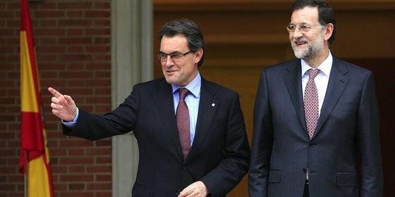 Artur Mas et Mariano Rajoy