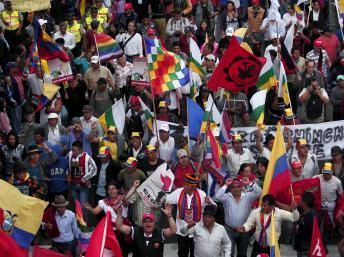 12 août: manifestation à Quito