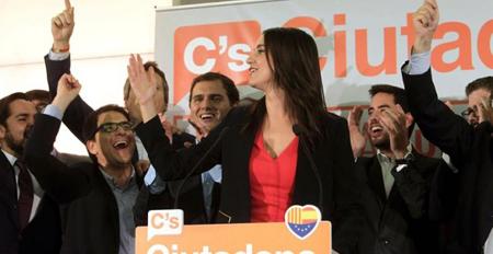 Inés Arrimadas; candidate à la présidence de la Généralié, figure de Ciutadans