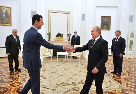 Bachar el-Assad le 20 octobre au Kremlin rencontre Vladimir Poutine