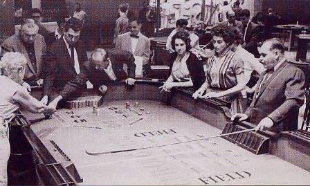 Casino à La Havane, année 1950