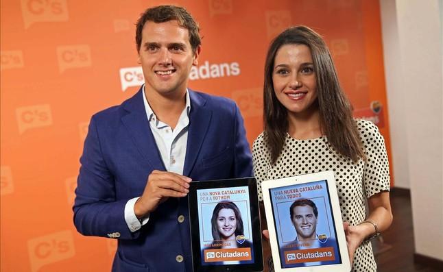 Albert Rivera et Inés Arrimadas, les deux candidats «de pointe» de Ciutadans