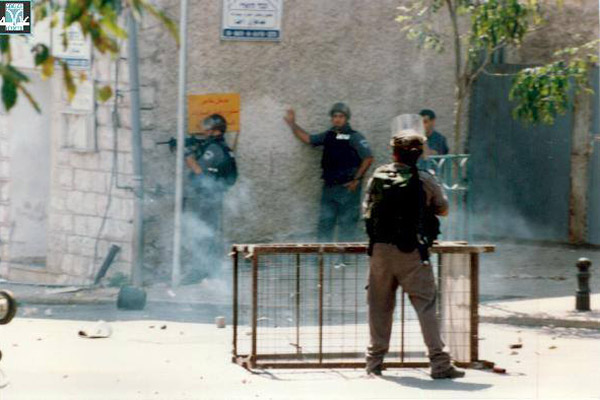 Attaque par des policiers de la frontière, en octobre 2000, au nord d'Israël