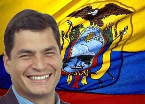 Rafael Correa, lors de la campagne (décembre 2012) pour sa troisième réélection à la tête du Movimiento Alianza Pais