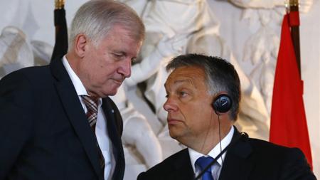 Horst Seehofer (CSU, Bavière) et Viktor Orban (Premier ministre de Hongrie)