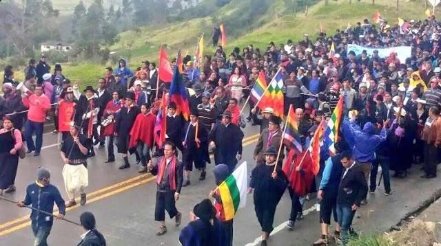 Les manifestant·e·s se rendent au Parque del Arbolito