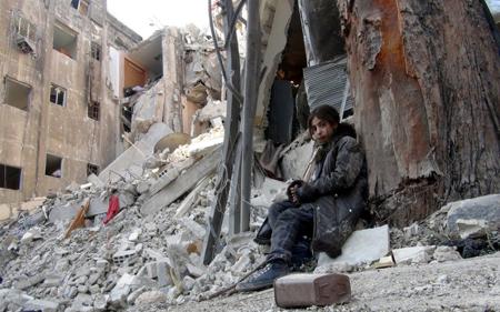 Dans le camp de Yarmouk...