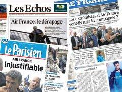 La presse et «la chemise» d'Air France
