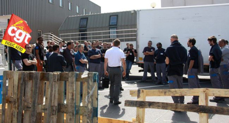 Grève à Figeac-Aéro