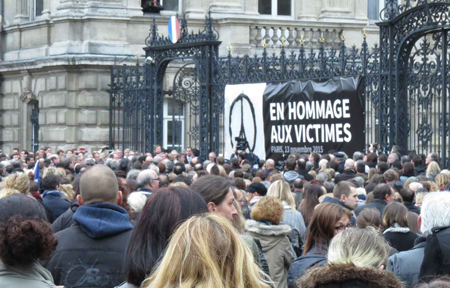 Manifestation, place de la République, 16 novembre