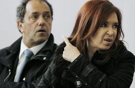 Daniel Scioli et Cristina Kirchner