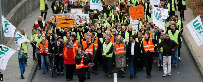 Manifestation à Frankfurt am Main, ce vendredi 13 novembre 2015