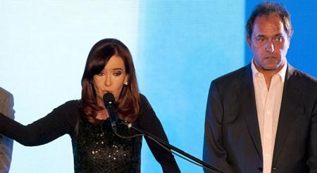 Cristina Kirchner et Daniel Scioli
