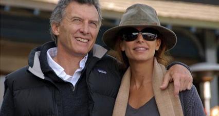 Daniel Macri et son épouse