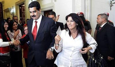 icola Maduro et son épouse: Cilia Flores