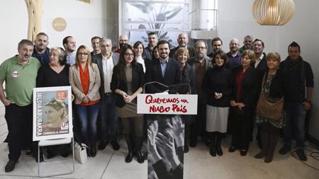 Alberto Garzón, IU, sous le logo d'Unité populaire, lance sa campagne, le 6 novembre à Madrid