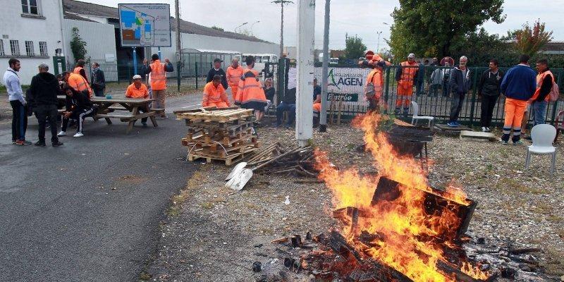 Agen: 12 octobre 2015, «aucun camion ne sort ni ne rentre du centre technique de l'agglomération»