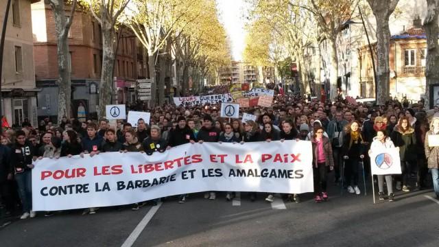 Manifestation à Toulouse le 21 novembre