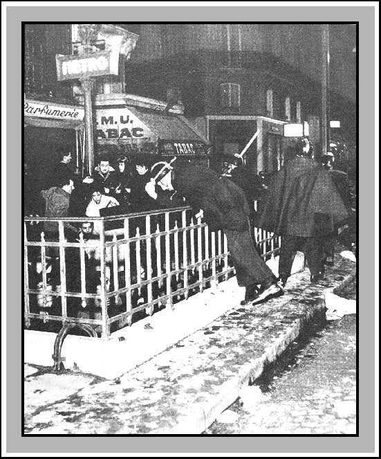 Métro Charonne, février 1962