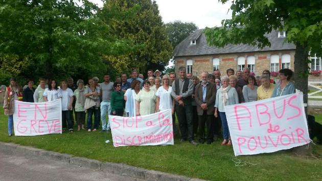 Grève à l'EHPAD de la Haye Pesnel (juillet 2015)