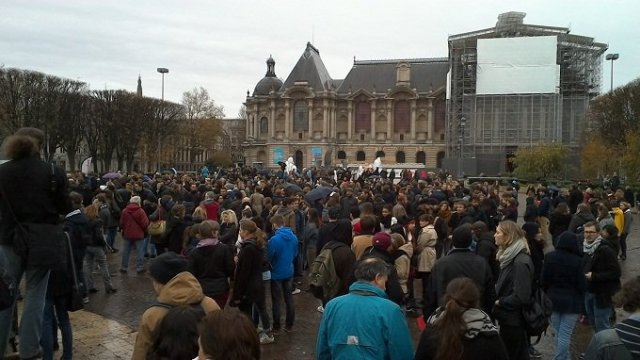 Manifestation à Lille le 14 novembre