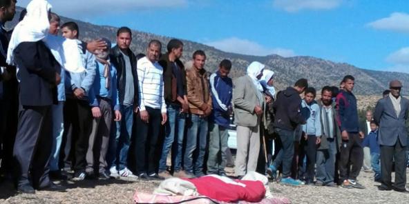 Funérailles de Mabrouk Soltani, le 15 novembre 2015, à Jelma