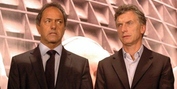 Daniel Scioli et Mauricio Macri