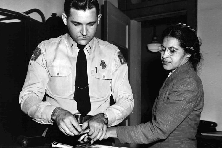 Rosa Parks lors de la campagne de boycott