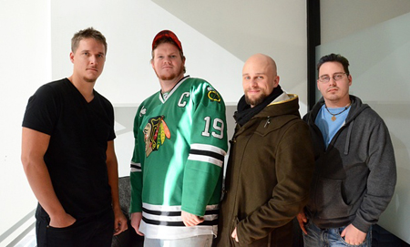 Cian Westmoreland, Michael Haas, Brandon Bryant et Stephen Lewis