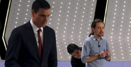 Sanchez et Iglesias lors du débat. Et maintenant, quid?