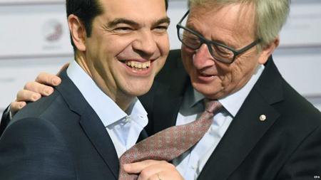 Alexis Tsipras et Jean-Claude Juncker