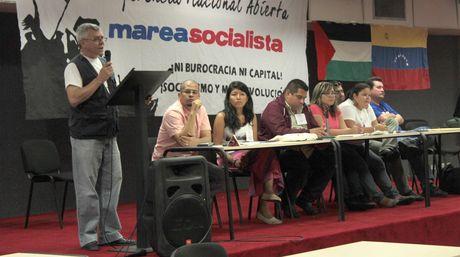 Marea socialista, «écarté» de l'élection des délégués du PSUV pour son troisième Congrès de 2014, réclame un audit public…