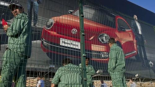 Grève, en janvier 2015, à la VW de l'ABC, suite à 800 licenciements