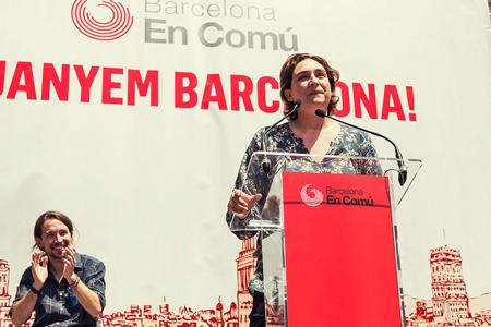 Pablo Iglesias et Ada Colau