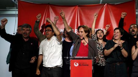Ada Colau a «tiré»la liste à Barcelone lors des élections du 20 décembre 2015