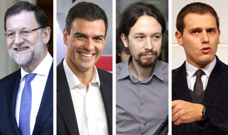 Rajoy, Sanchez, Iglesias, Rivera