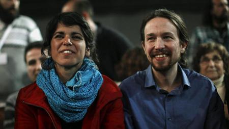 Teresa Rodriguez et Pablo Iglesias