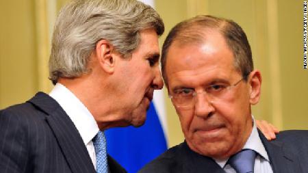 Kerry-Lavrov en mai 2013. Préparation de l'enjambement de la «ligne rouge» en août 2013