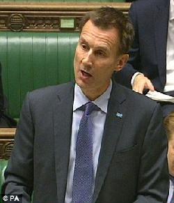 Jeremy Hunt, ministre de la Santé, novembre 2015