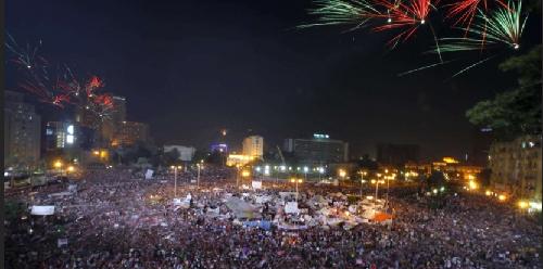 La place Tahrir, le 3 juillet 2013...