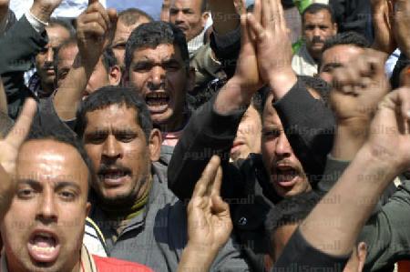 Ouvriers de l'aluminium protestant contre la corruption de la direction (27 décembre 2015)