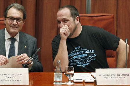 Artur Mas et David Fernandez (CUP): un accord pour un président nommé Carles Puigdemont, «indépendantiste», maire de Gérone